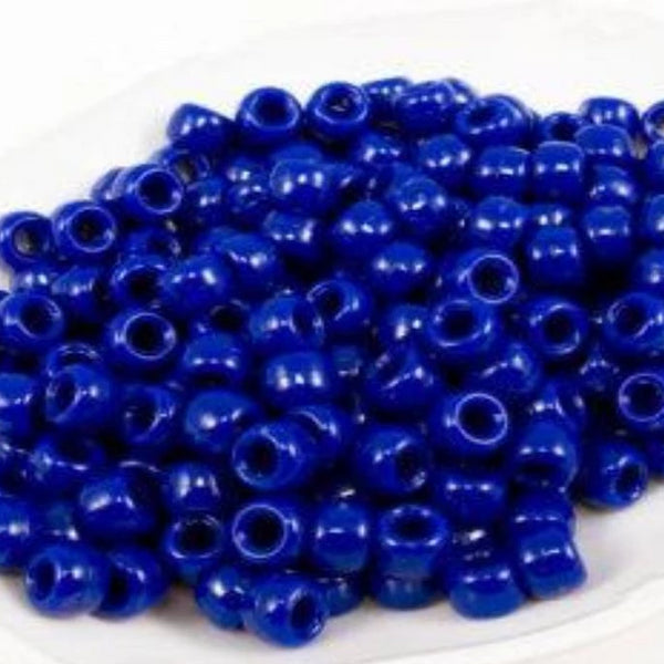 Plastic Beads, 4X6 Pony Beads, Dark Blue | Fashion Jewellery Outlet