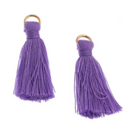 Poly Cotton Tassel, Purple Thread Tassel | Fashion Jewellery Outlet