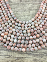 4mm Red Jasper Bead, Red Net Jasper Stone Bead | Fashion Jewellery Outlet