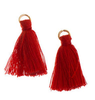 Poly Cotton Tassel, Thread Tassel, Red | Fashion Jewellery Outlet