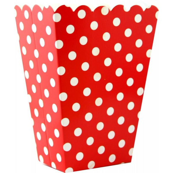 Popcorn Cups, Red | Fashion Jewellery Outlet