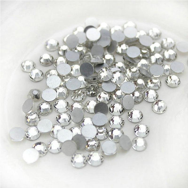 Sparkly  Flatback Crystal SS30, Clear | Fashion Jewellery Outlet