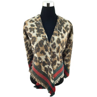 Leopard Print Brown Blanket Scarf | Fashion Jewellery Outlet