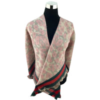 Leopard Print Pink Blanket Scarf | Fashion Jewellery Outlet