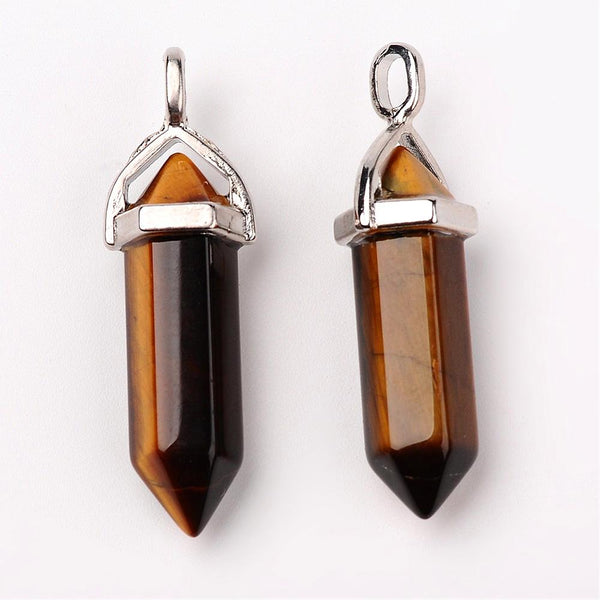 Natural Tiger Eye Bullet Pendant | Fashion Jewellery Outlet