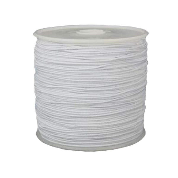 Elastic Cord 0.8mm Thick, 15 meter Roll, White | Fashion Jewellery Outlet
