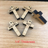 Personalized Wood Cross | Fashion Jewellery Outlet