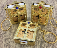 Holy Bible Keychain, Gold | Fashion Jewellery Outlet