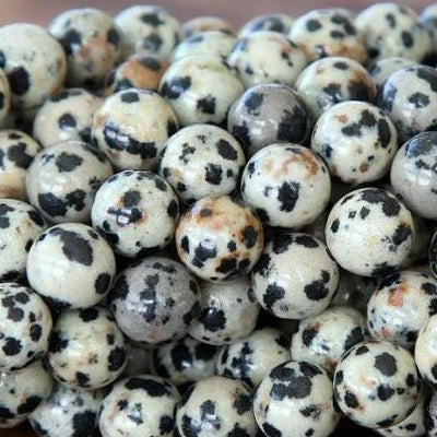 8mm Dalmatian Beads Dalmatian jasper Beads | Fashion Jewellery Outlet
