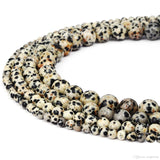 10mm Dalmatian Beads, Dalmatian Jasper Beads | Fashion Jewellery Outlet