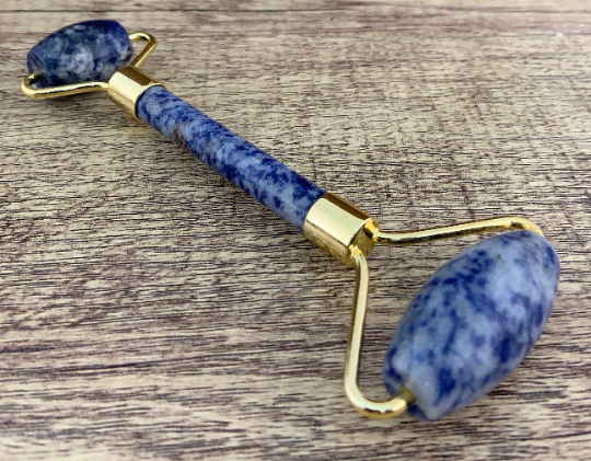 Natural Stone Facial Massage Roller, Sodalite Stone