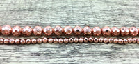 12mm Rose Gold Faceted Hematite Bead | Fashion Jewellery Outlet