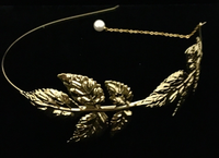 Hair Accessories, Gold Leaf Headband | Fashion Jewellery Outlet