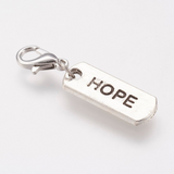 Hope Rectangle Charm with Lock | Fashion Jewellery Outlet