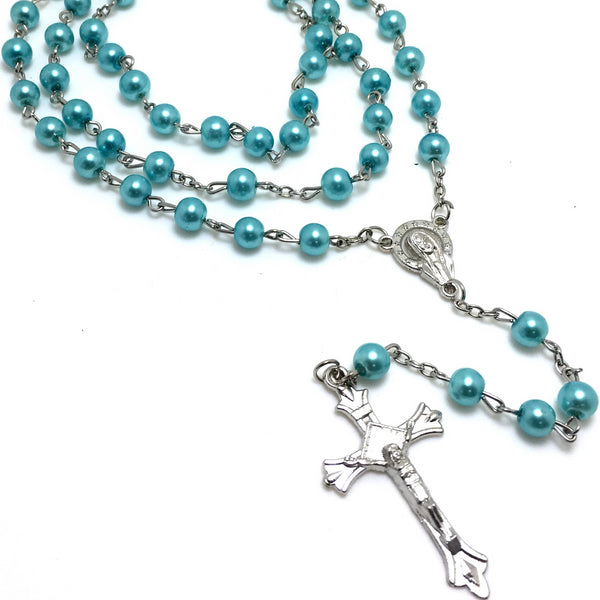 Pearl Long Rosary Necklace | Fashion Jewellery Outlet