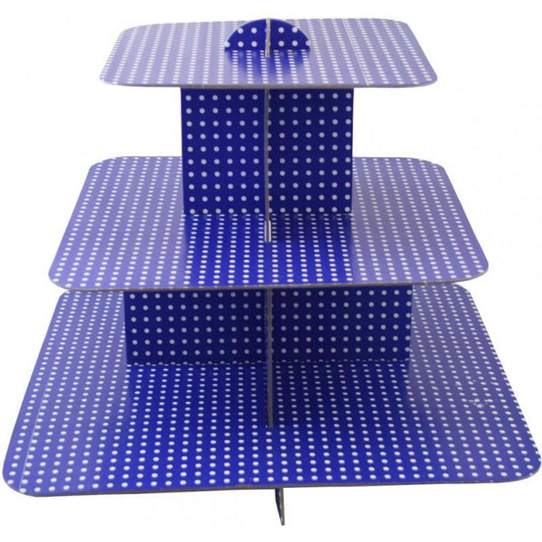 Cup Cake Stand, Dark Blue | Fashion Jewellery Outlet
