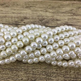 12mm Faux Glass Pearls, Ivory | Fashion Jewellery Outlet
