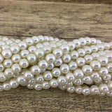 8mm Faux Glass Pearls, Ivory | Fashion Jewellery Outlet