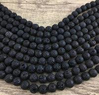 10mm Lava Bead | Fashion Jewellery Outlet
