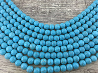 10mm Blue Howlite Bead | Fashion Jewellery Outlet