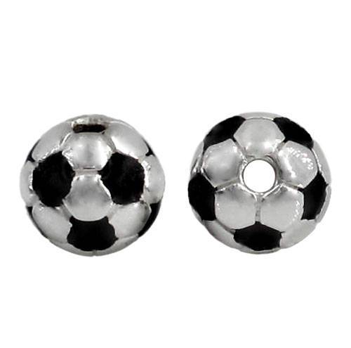 Sterling Silver Soccer Ball Bead | Fashion Jewellery Outlet