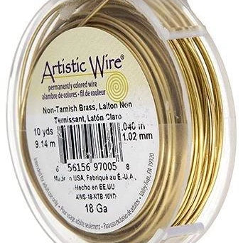 ARTISTIC WIRE 24G, Non Tarnish BRASS | Fashion Jewellery Outlet