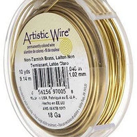 ARTISTIC WIRE 20G, Non Tarnish BRASS | Fashion Jewellery Outlet