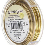 ARTISTIC WIRE 28G, Non Tarnish BRASS | Fashion Jewellery Outlet