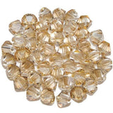 4mm Swarovski Golden Shadow Bicone, 5328 | Fashion Jewellery Outlet