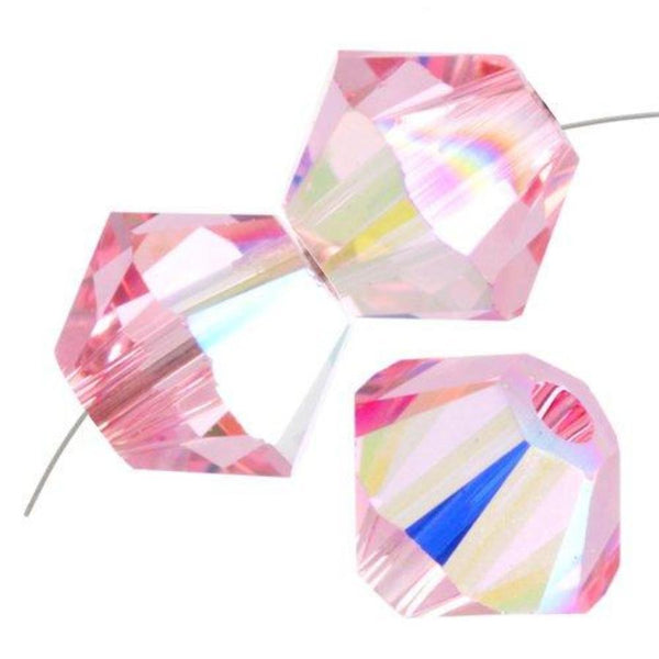 8mm Swarovski Bicone Bead Light Rose AB, 5328 | Fashion Jewellery Outlet