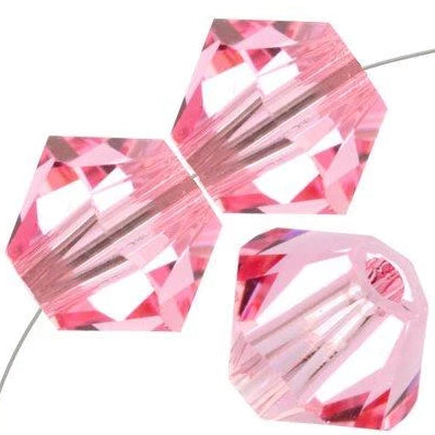 6mm Swarovski Bicone Light Rose, 5328 | Fashion Jewellery Outlet