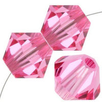 8mm Swarovski Bicone Bead Rose, 5328 | Fashion Jewellery Outlet