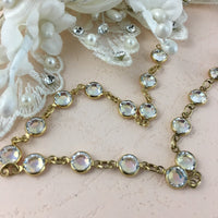 Swarovski Crystal Chain, Gold with Crystal AB Stones, SS29 | Fashion Jewellery Outlet
