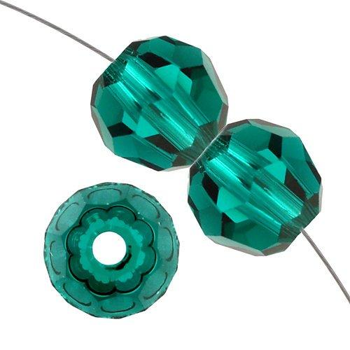 8mm Swarovski Round Crystal Emerald 5000 | Fashion Jewellery Outlet