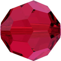6mm Swarovski Round Bead Scarlet 5000 | Fashion Jewellery Outlet
