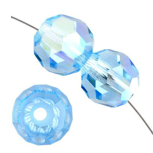 8mm Swarovski Round Bead Aquamarine AB 5000 | Fashion Jewellery Outlet