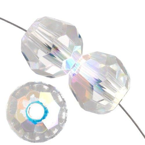 4mm Swarovski Round Crystal AB 5000 | Fashion Jewellery Outlet