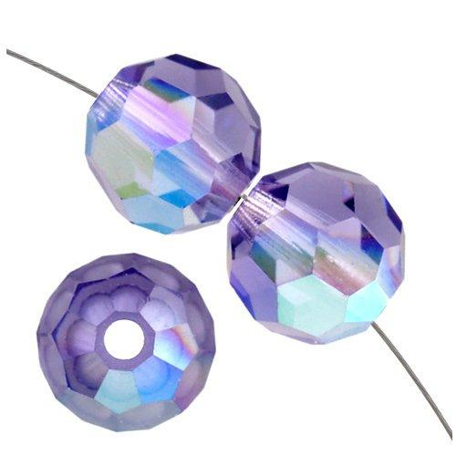 6mm Swarovski Round Bead Tanzanite AB 5000 | Fashion Jewellery Outlet