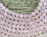 6mm Frosted Rose Quartz Bead | Fashion Jewellery Outlet