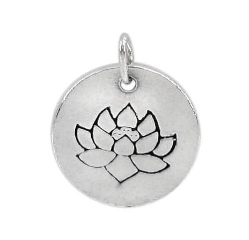 Sterling Silver Lotus Flower Charm | Fashion Jewellery Outlet