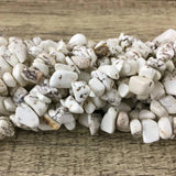Ivory Howlite Chips Bead | Fashion Jewellery Outlet