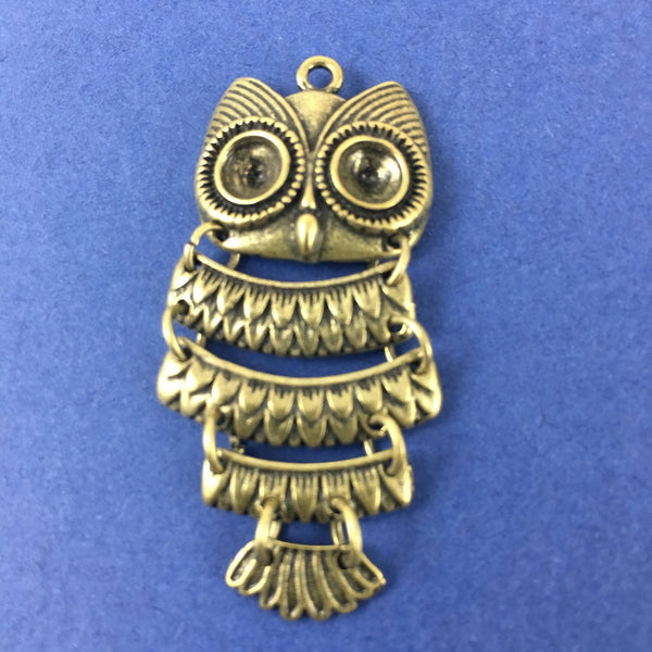 Alloy Charm, Bronze Owl Charm | Fashion Jewellery Outlet