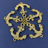Alloy Connector, Gold Anchor | Fashion Jewellery Outlet