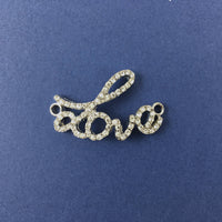 Alloy Connector, Rhodium Love Connector | Fashion Jewellery Outlet