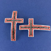 Alloy Connector, Red and Black Big Cross Bead | Fashion Jewellery Outlet
