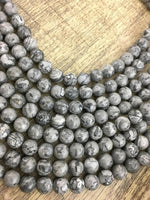 8mm Map Stone Bead | Fashion Jewellery Outlet