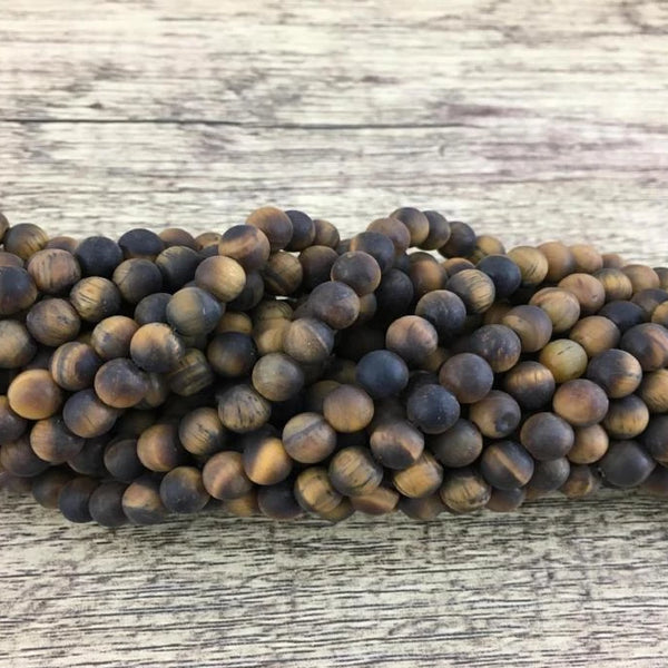 4mm Frosted Tiger Eye Bead | Fashion Jewellery Outlet