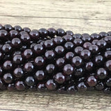 8mm Garnet Semi Precious Bead | Fashion Jewellery Outlet