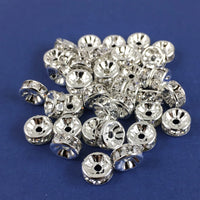 10mm CZ Roundels Silver Plated | Fashion Jewellery Outlet