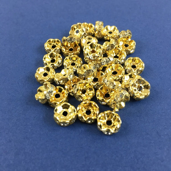 10mm CZ Roundels Gold Plated | Fashion Jewellery Outlet